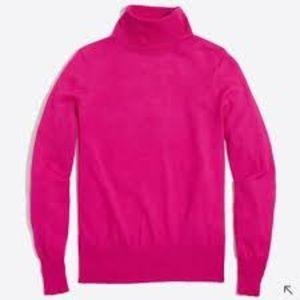 J.Crew Fuchsia Turtleneck Sweater